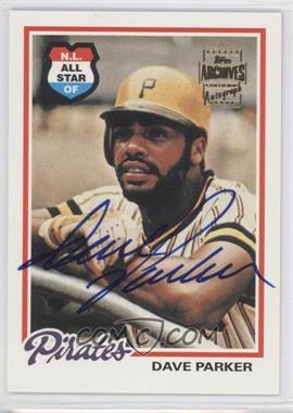 2002 Topps Archives - Autographs #TAA-DP - Dave Parker