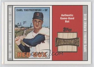 2002 Topps Archives - Bat Relics #TBR-CY - Carl Yastrzemski