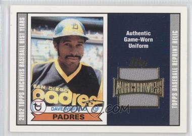 2002 Topps Archives - Reprint Relics #TUR-DW - Dave Winfield