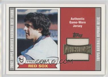 2002 Topps Archives - Uniform Relics #TUR-FL - Fred Lynn