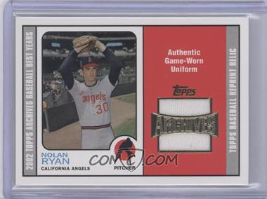 2002 Topps Archives - Uniform Relics #TUR-NR - Nolan Ryan
