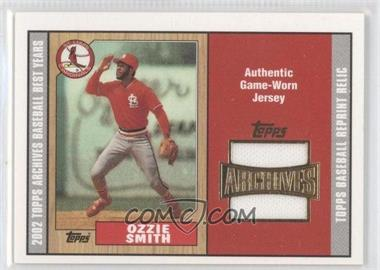 2002 Topps Archives - Uniform Relics #TUR-OS - Ozzie Smith