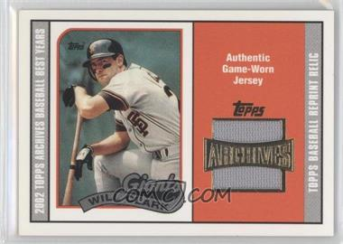 2002 Topps Archives - Uniform Relics #TUR-WC - Will Clark