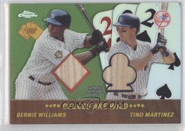 2002 Topps Chrome - 5 Card Stud Dueces Wild #5DC-BT - Bernie Williams, Tino Martinez