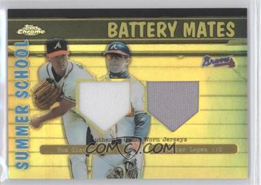 2002 Topps Chrome - Summer School Battery Mates - Refractor #BMC-GL - Tom Glavine, Javy Lopez