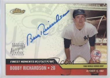 2002 Topps Finest - Moments Autographs #FMA-BR - Bobby Richardson