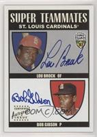 Lou Brock, Bob Gibson #/50