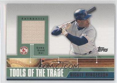 2002 Topps Traded - Tools of the Trade - Relics #TTRR-RHB - Rickey Henderson