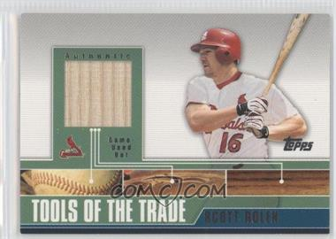 2002 Topps Traded - Tools of the Trade - Relics #TTRR-SR - Scott Rolen