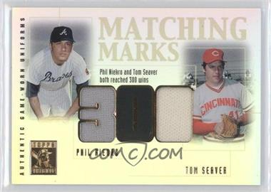 2002 Topps Tribute - Matching Marks #MM-NS - Phil Niekro, Tom Seaver