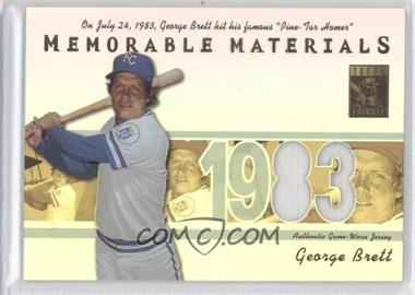 2002 Topps Tribute - Memorable Materials #MEM-GB - George Brett