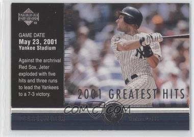 2002 Upper Deck - 2001's Greatest Hits #GH10 - Derek Jeter
