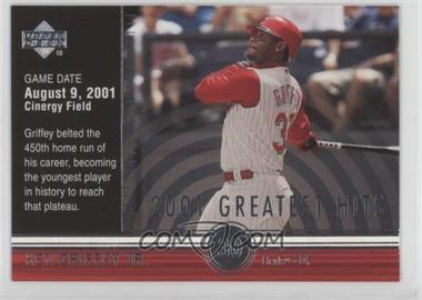 2002 Upper Deck - 2001's Greatest Hits #GH8 - Ken Griffey Jr.