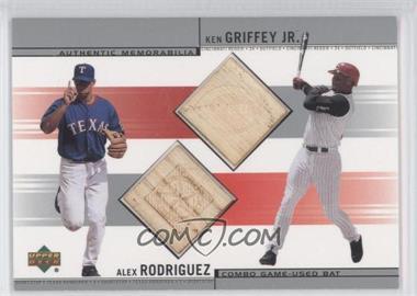 2002 Upper Deck - Combo Game-Used Bats #CB-RG - Alex Rodriguez, Ken Griffey Jr.
