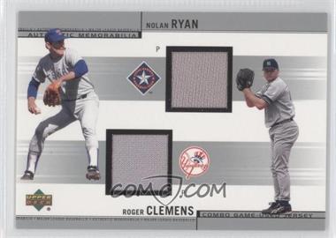 2002 Upper Deck - Combo Game-Used Jerseys #CJ-RC - Nolan Ryan, Roger Clemens