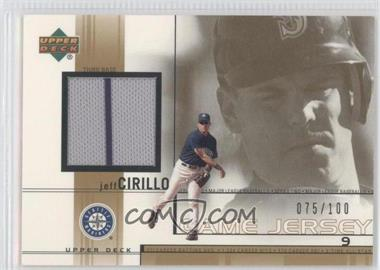 2002 Upper Deck - Game-Used Jerseys - Gold #JC - Jeff Cirillo /100