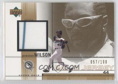 2002 Upper Deck - Game-Used Jerseys - Gold #PW - Preston Wilson /100
