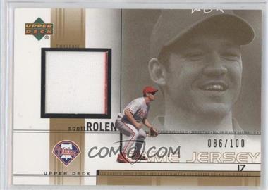 2002 Upper Deck - Game-Used Jerseys - Gold #SR - Scott Rolen /100