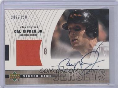 low priced 69add df8b9 2002 Upper Deck - Signed Game Jersey #S-CR - Cal Ripken Jr ...