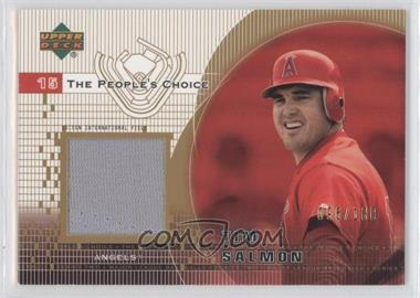 2002 Upper Deck - The People's Choice Jerseys - Gold #PJ-TS - Tim Salmon /100