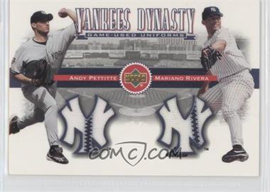 2002 Upper Deck - Yankees Dynasty Game-Used Materials Combos #YJ-PR - Andy Pettitte, Mariano Rivera