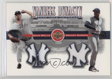 2002 Upper Deck - Yankees Dynasty Game-Used Materials Combos #YJ-WG - David Wells, Dwight Gooden