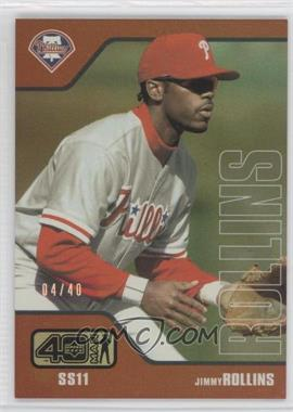2002 Upper Deck 40 Man - [Base] - Electric Rainbow #889 - Jimmy Rollins /40
