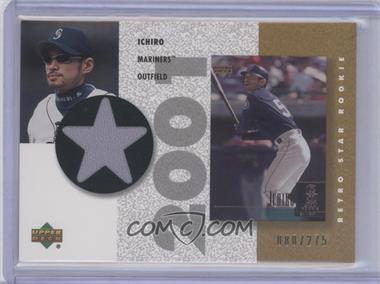 2002 Upper Deck Authentics - Retro UD Star Rookies Jerseys - Gold #SR-I - Ichiro Suzuki /275