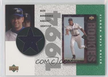 2002 Upper Deck Authentics - Retro UD Star Rookies Jerseys #SR-AR - Alex Rodriguez