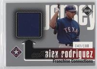 Franchise Collections Jerseys - Alex Rodriguez #/100