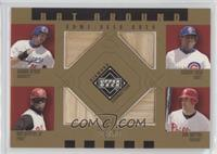 Pat Burrell, Sammy Sosa, Shawn Green, Ken Griffey Jr. #/50