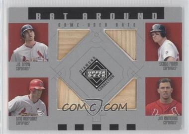 2002 Upper Deck Diamond Connection - Bat Around #BA-DRME - J.D. Drew, Scott Rolen, Tino Martinez, Jim Edmonds