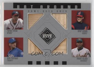 2002 Upper Deck Diamond Connection - Bat Around #BA-FVRT - Rafael Furcal, Omar Vizquel, Alex Rodriguez, Miguel Tejada