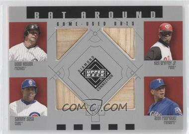 2002 Upper Deck Diamond Connection - Bat Around #BA-HGSR - Todd Helton, Ken Griffey Jr., Sammy Sosa, Alex Rodriguez
