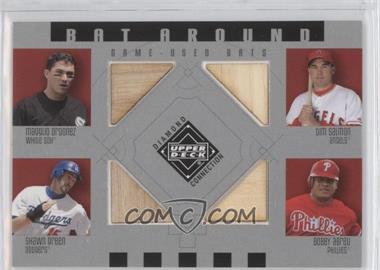2002 Upper Deck Diamond Connection - Bat Around #BA-OSGA - Magglio Ordonez, Tim Salmon, Shawn Green, Bobby Abreu