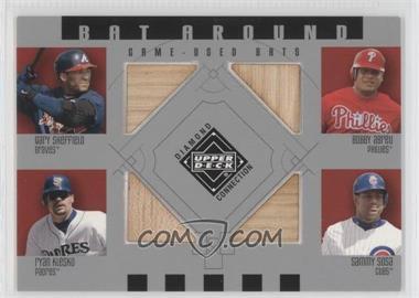 2002 Upper Deck Diamond Connection - Bat Around #BA-SAKS - Gary Sheffield, Bobby Abreu, Ryan Klesko, Sammy Sosa