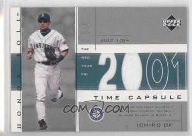 2002 Upper Deck Honor Roll - Time Capsule Game Jersey #TC-I2 - Ichiro Suzuki