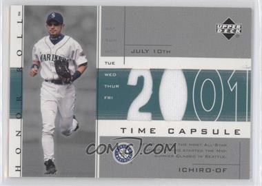 2002 Upper Deck Honor Roll - Time Capsule Game Jersey #TC-I2 - Ichiro Suzuki