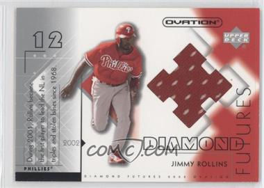 2002 Upper Deck Ovation - Diamond Futures Jerseys #DF-JR - Jimmy Rollins