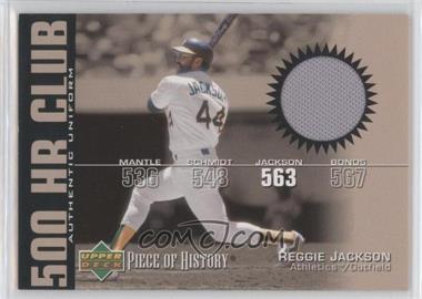 2002 Upper Deck Piece Of History - 500 HR Club - Memorabilia [Memorabilia] #HR-RJ - Reggie Jackson