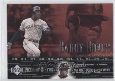 2002 Upper Deck Piece Of History - [Base] #74 - Barry Bonds
