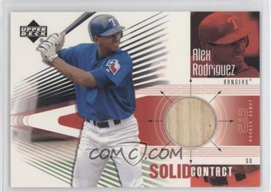 2002 Upper Deck Rookie Debut - Solid Contact #SC-AR - Alex Rodriguez