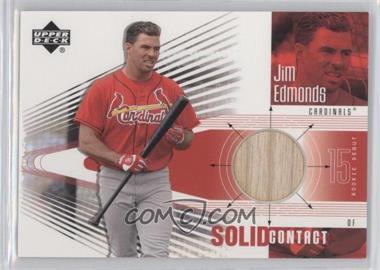 2002 Upper Deck Rookie Debut - Solid Contact #SC-JE - Jim Edmonds