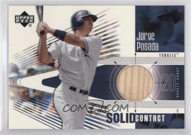 2002 Upper Deck Rookie Debut - Solid Contact #SC-JP - Jorge Posada