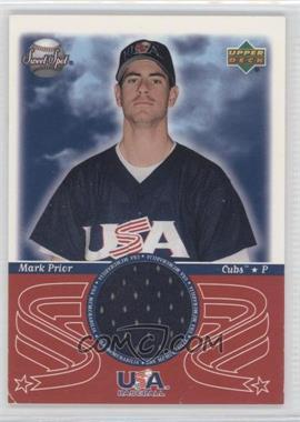 2002 Upper Deck Sweet Spot - USA Memorabilia #USA-MP - Mark Prior
