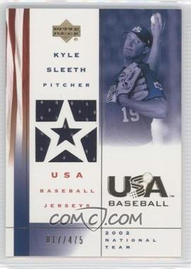 2002 Upper Deck USA Baseball - Jerseys #US-KS - Kyle Sleeth /475