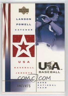 2002 Upper Deck USA Baseball - Jerseys #US-LP - Landon Powell /475