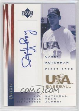 2002 Upper Deck USA Baseball - Signatures #CK - Casey Kotchman /375
