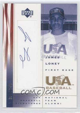 2002 Upper Deck USA Baseball - Signatures #JL - James Loney /375