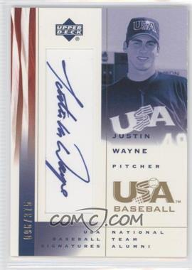 2002 Upper Deck USA Baseball - Signatures #JW - Justin Wayne /375